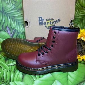 Dr. Martens Juniors 1460 Cherry Red NEW IN BOX
